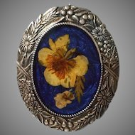 Vintage Pierre Bex Pansy Brooch