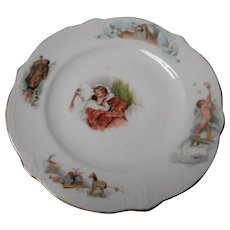 Vintage Porcelain Child's Plate