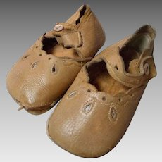 Vintage All Leather Child's or Doll Side Button Shoes