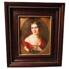 Vintage Lithograph Portrait, Framed