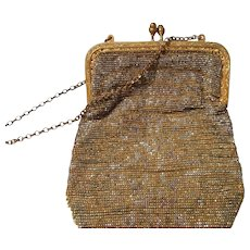 Vintage Steel Beaded Handbag in shades of Gold and Silver