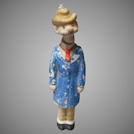 "Vintage ""Andy Gump"" Porcelain German Nodder"