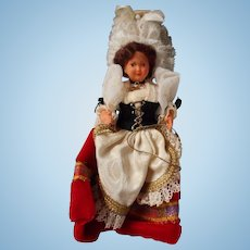 Vintage Early Plastic Doll in Original Costume