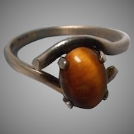 Sterling and Tigers Eye Ring size 6
