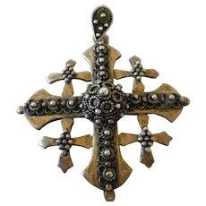 Sterling, Jerusalem Intricate Maltese Cross Pendant