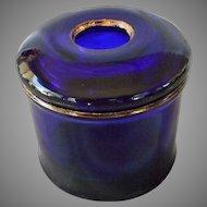 Vintage Cobalt Barber Jar