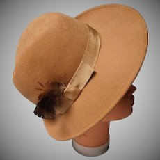 """Authentic Vintage """"Burberry's England"""" Wool Felt Hat with Feathers"""