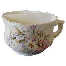 Vintage Porcelain Shaving Mug, Floral Design