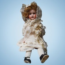 Antique Morimura Brothers Bisque Doll with Kid Leather Body
