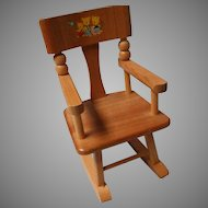 Vintage Wood and Transfer Design Rocking Chair