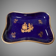 Cobalt Blue Limoges PinTray