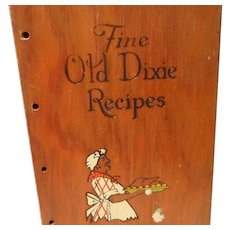 Vintage Wooden Cook Book Cover and Southern Cook Book