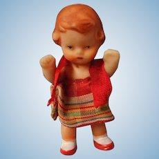 Vintage German Vinyl Doll House Doll