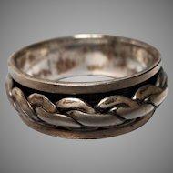 Celtic Design Sterling Spinner Ring