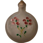 Vintage Bottle with Cork Hand Painted