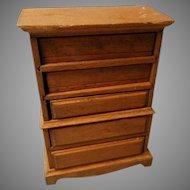 Vintage Wooden High Boy Dresser for Doll House