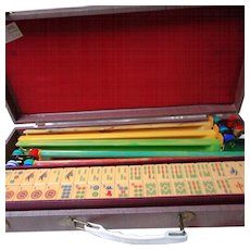 Vintage Bakelite Mah-Jong Set in Original Case