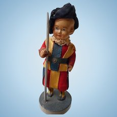 Vintage Celluloid Royal Guard Doll in Original Outfit