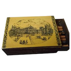Vintage Enameled Match Box Cover, Blenheim Castle
