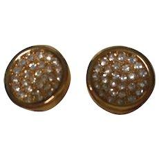 """Vintage """"Lanvin, Paris"""" Clip Earrings"""