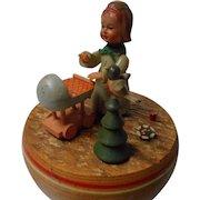 Vintage Carved Wood Anri Music Box