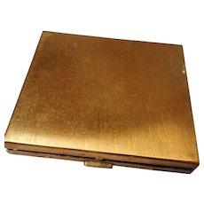 Vintage Gold Tone Powder Compact Pegi, Paris