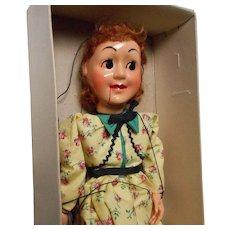 "Vintage ""Hazelle's"" Talking Marionette, Nancy"