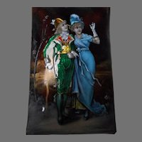 Fine Antique French Enamel Portrait Scene