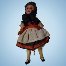 Antique German Bisque Doll House Doll, All Original