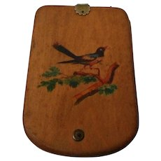 Vintage Hand Painted 1865 Wooden Note Pad