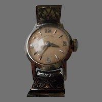 Vintage 14 K White Gold Ladies Hamilton Wrist Watch