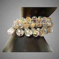 Vintage Crystal aurora Borealis Bracelet