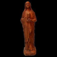 Vintage Hand Carved Saint Madeleine Statue