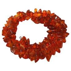 Vintage Amber Stone Wrap Bracelet