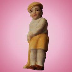 Vintage German All Bisque Doll House Golfer Doll
