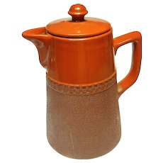 Vintage Langley Pottery Chocolate Coffee Pot
