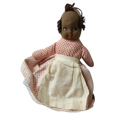 Vintage Cloth Painted Face Topsy Turvy Doll