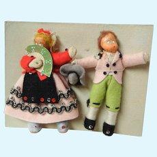 Vintage Cloth and Papier Mache Dolls on Original Cardboard