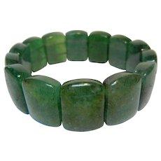 Natural Polished Green Stone Bracelet