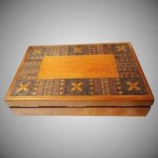 vintage Hand Carved Wooden Box