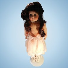 Antique 14 Inch Bisque Head Child Doll by Heubach Koppelsdorf