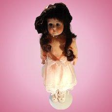 Antique 14 Inch Bisque Head Child Doll by Heubach Koppelsdorf