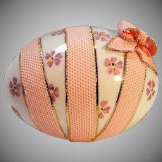 Vintage Irish Dresden Porcelain Egg