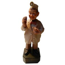 Hand Carved Wooden E.N.T. Physician by Anri