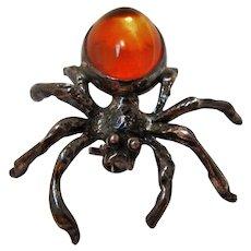 Vintage Sterling Spider Pin