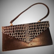 Vintage Leather and Suede Hand Bag