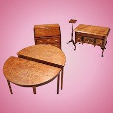 Vintage Wooden Doll House furniture Set