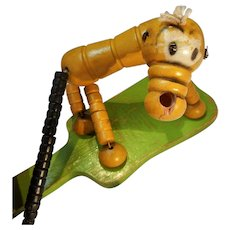 Vintage All Wood Puppet Toy
