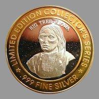 Limited Edition .999 Fine Silver Bad River Lodge Coin - Big Tree - Kiowa