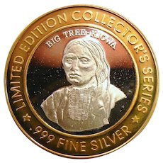 Limited Edition .999 Fine Silver Bad River Lodge Coin - Big Tree - Kiowa